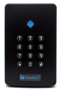 3millID Keypad Reader 3/4 view